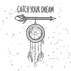 Dreamctcher with hand written phrase - Catch your dream.