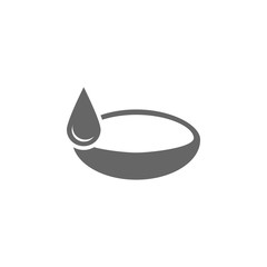 Drop contact lenses icon Simple element illustration. Symbol design from Medical collection. Can be used in web and mobile.