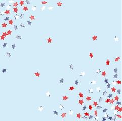 Falling confetti stars