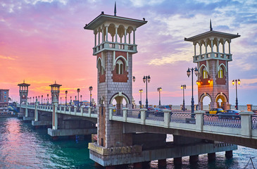 Beautiful evening in Alexandria, Egypt Wall mural