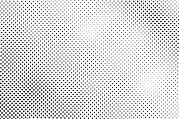 Black white dotted halftone vector background. Pale regular dotted gradient.