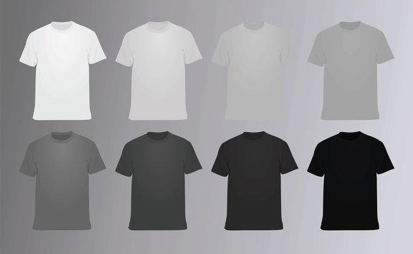 T shirt set. vector illustration