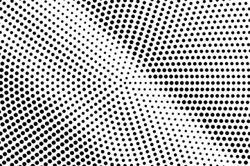Black white dotted halftone vector background. Rough dotted gradient.