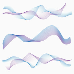 Abstract two color waves.