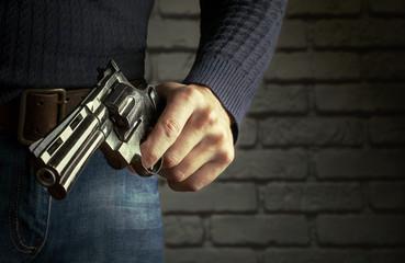 The gun in hands
