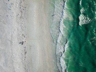 Beach view from aerial