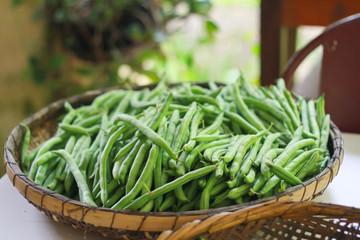 Organic vegetables (Quiabos)