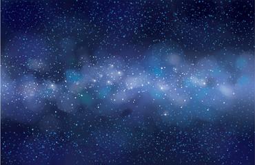 Vector starry sky  background. Milky way galaxy.