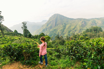 Little girl in tea country