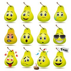 Pears emoticon vector