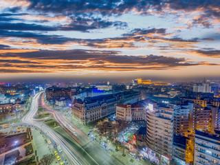 Bucharest city center - aerial view