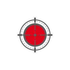 aim icon. Elements of gun aim icon. Premium quality graphic design icon. Signs, symbols collection icon for websites, web design, mobile app