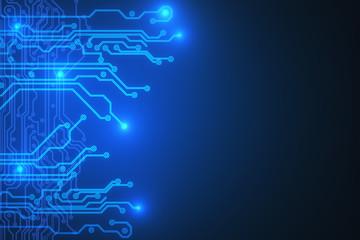 Blue circuit backdrop