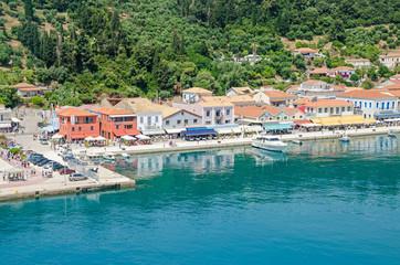 Waterfront and promenade of Katakolo in Greece