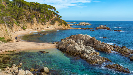Nice detail from Costa Brava coastal in Spain, La Fosca