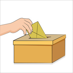 Election ballot and voting