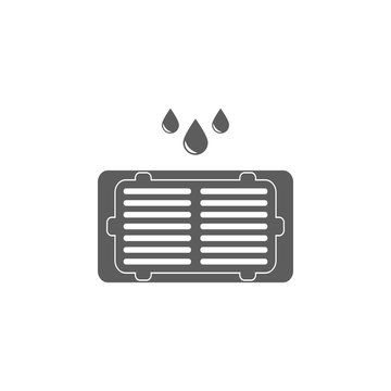 road gutter icon. Elements of plumber icon. Premium quality graphic design icon. Signs, symbols collection icon for websites, web design, mobile app