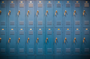 Row of High School Lockers