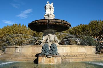 Photo sur Aluminium Fontaine Historic rotonde fountain aix-en-provence france