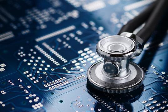Medical stethoscope and electronics