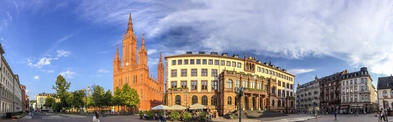 Wiesbaden, Marktkirche, Schlossplatz