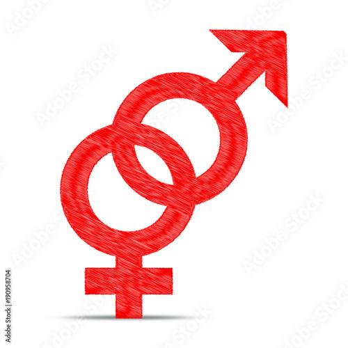 Männlich oder weiblich zeichen