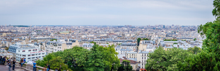 Panorama of Paris seen from Montmartre