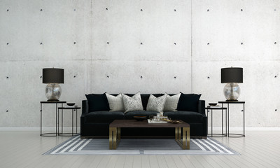 The modern luxury interior design of lounge and living room and concrete wall texture background Wall mural