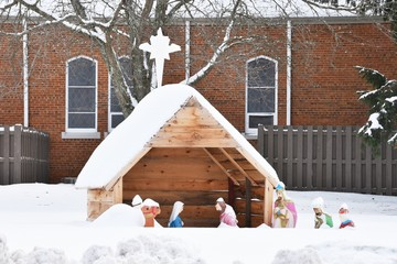Nativity in Snow