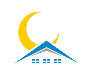 sun house housing home residence residential residency real estate image vector icon 1