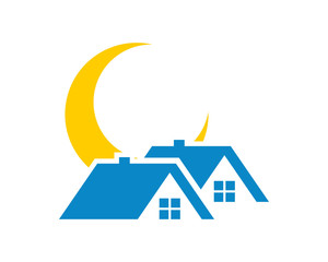 sun house house housing home residence residential residency real estate image vector icon 3