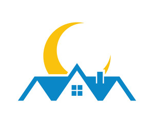 moon house house housing home residence residential residency real estate image vector icon 4