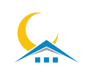 moon house housing home residence residential residency real estate image vector icon 5