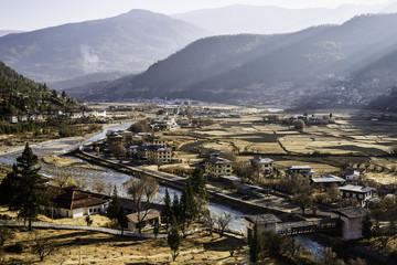 Overlooking Paro city, Bhutan