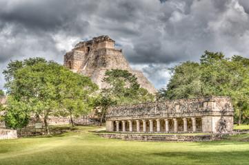 Die Ruinen der Maya-Stadt Uxmal