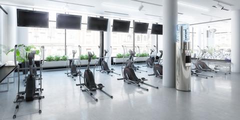 Crosstrainer im Fitness-Zenter (panoramisch)