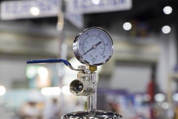 Pressure Gauge in an equipment
