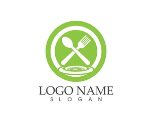 Restaurant icon logo design template