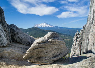 Mount Shasta from the summit of Castle Crags