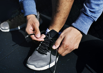 Person wearing shoes
