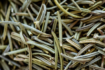 Closeup of dried rosemary
