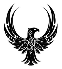 Eagle tattoo shape