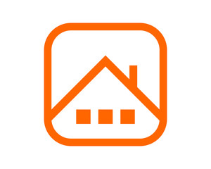 orange house home roof image icon vector logo