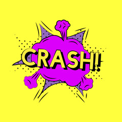 Crash art word isolated on background