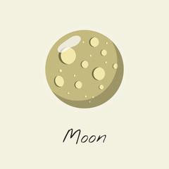 Illustration of moon isolated on background