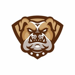 Animal Head - Bulldog - vector logo/icon illustration mascot