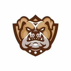 Animal Head - Bulldog - vector logo/icon illustration mascot