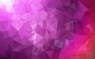 abstract polygon background. Dark purple polygonal illustration, which consist of triangles. Geometric background in Origami style with gradient. Triangular design for your business.