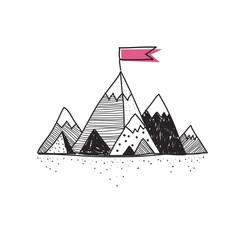 Success mountain doodle