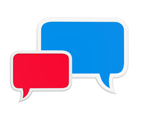 Speech Bubbles Isolated